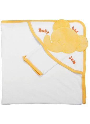 Baby Jem Babyjem Yeni Doğan Havlusu   Beyaz